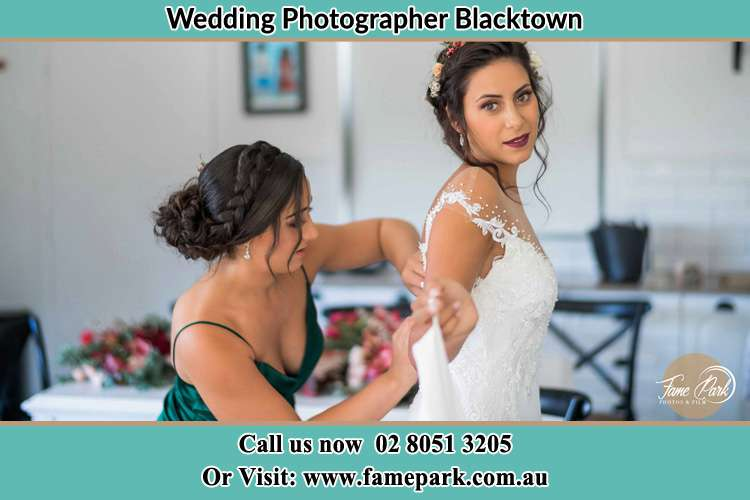 Photo of the Bride and the bridesmaid getting ready Blacktown NSW 2148