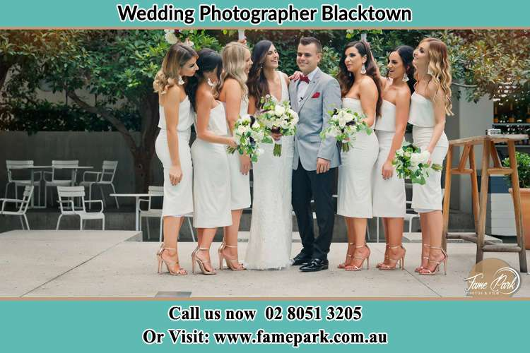 Photo of the Groom and the Bride with the bridesmaids Blacktown NSW 2148