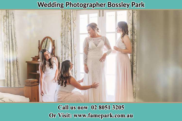 Photo of the Bride and the secondary sponsor preparing Bossley Park NSW 2176