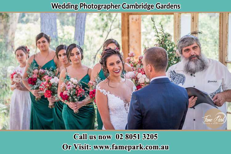 Photo of the Bride and the Groom at the matrimony Cambridge Gardens NSW 2747