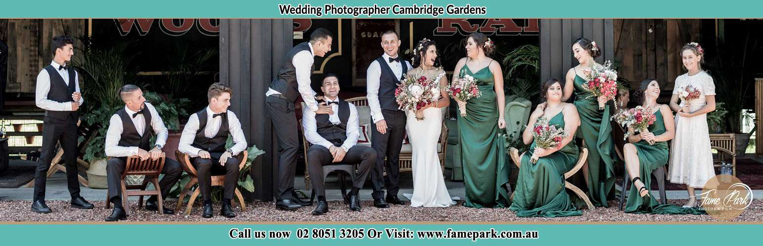 Photo of the Groom and the Bride with the entourage Cambridge Gardens NSW 2747
