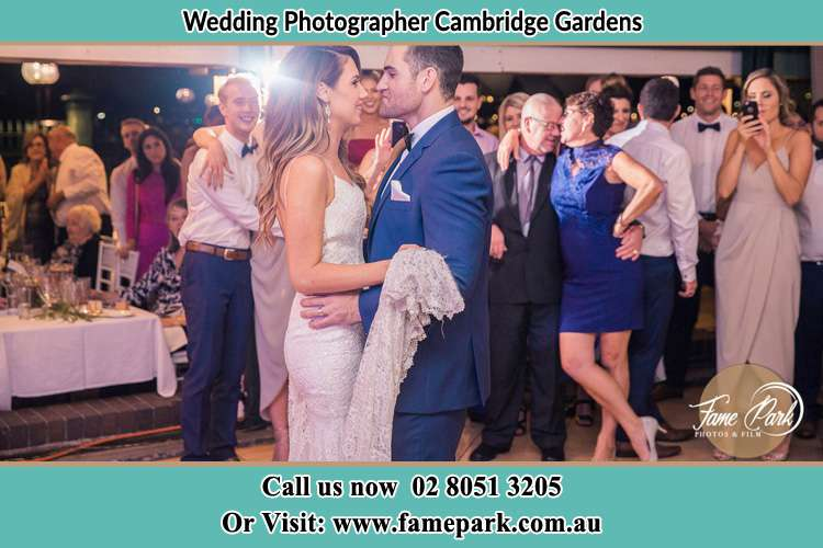Photo of the Bride and the Groom dancing Cambridge Gardens NSW 2747