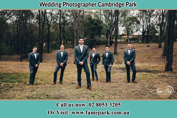 Photo of the Groom and the groomsmen Cambridge Park NSW 2747