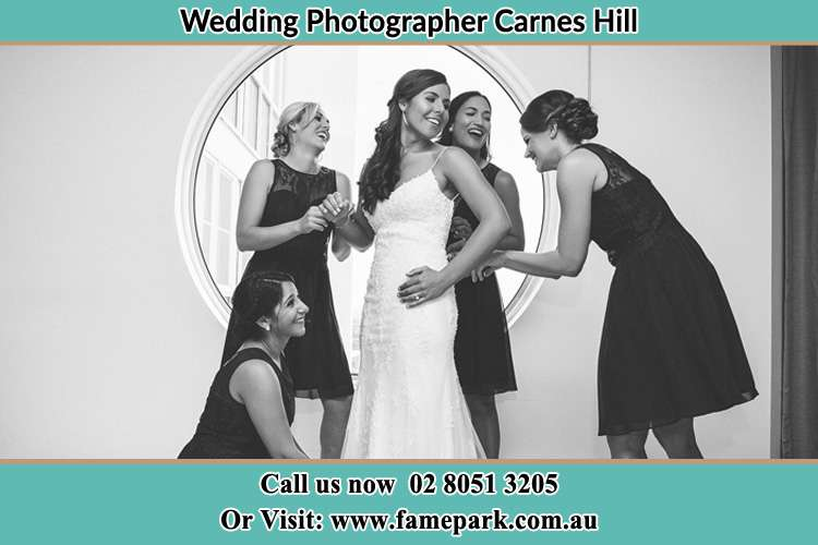 Photo of the Bride and the bridesmaids near the window Carnes Hill NSW 2171