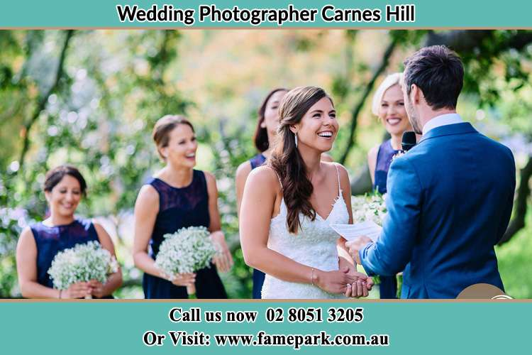 Photo of the Groom testifying love to the Bride Carnes Hill NSW 2171
