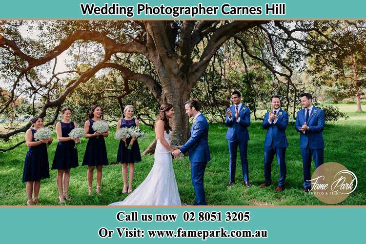 Photo of the Groom and the Bride with the entourage Carnes Hill NSW 2171