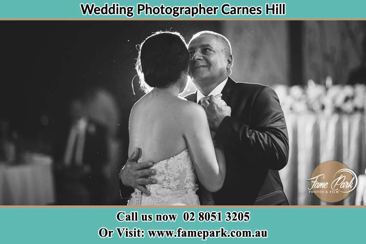 Photo of the Bride dancing with her father Carnes Hill NSW 2171