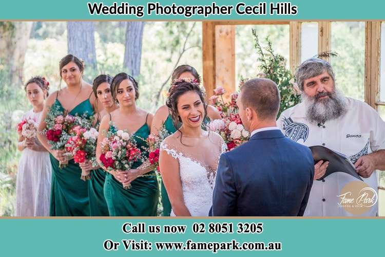 Photo of the Bride and the Groom at the matrimony Cecil Hills NSW 2171