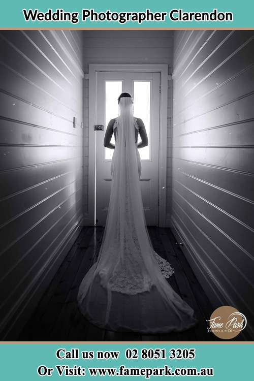 Photo of the Bride going out the door Clarendon NSW 2756
