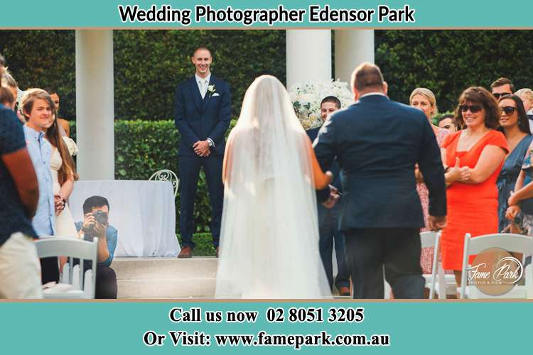 Photo of the Bride with her father walking the aisle Edensor Park NSW 2176