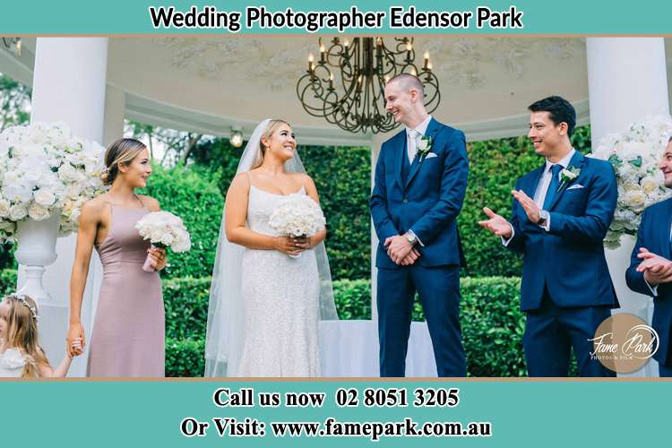 Photo of the Groom and the Bride with the entourage Edensor Park NSW 2176