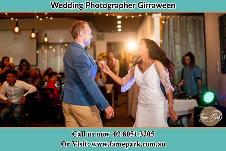 Photo of the Groom and the Bride dancing on the dance floor Girraween NSW 2145