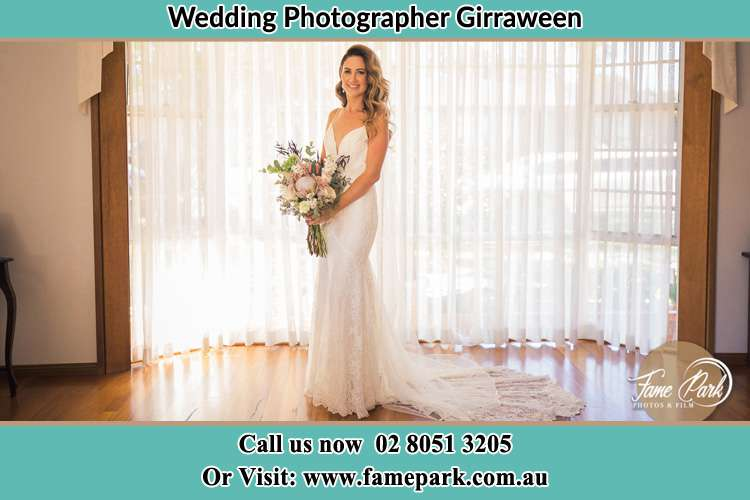 Photo of the Bride holding flower bouquet Girraween NSW 2145