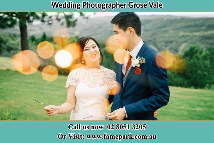 Photo of the Bride and the Groom at the yard Grose Vale NSW 2753
