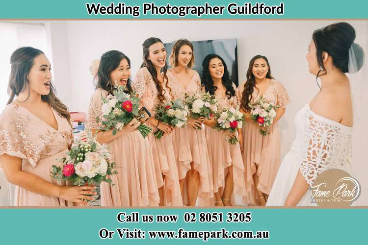 Photo of the Bride and the bridesmaids Guildford NSW 2161