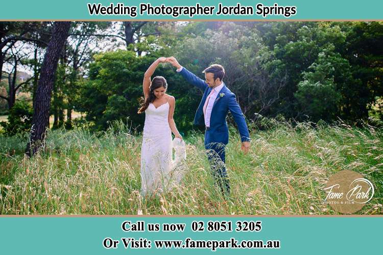 Photo of the Bride and the Groom dancing Jordan Springs NSW 2747