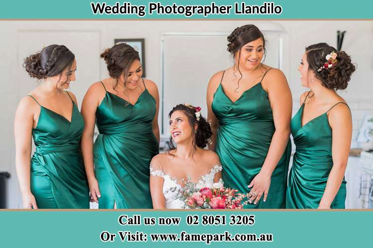 Photo of the Bride and the bridesmaids Llandilo NSW 2747