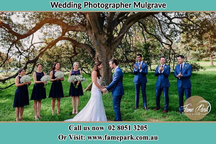 Photo of the Groom and the Bride with the entourage Mulgrave NSW 2756