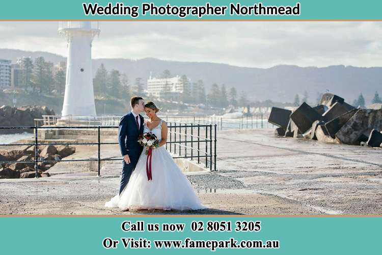 Photo of the Bride and Groom at the Watch Tower Northmead NSW 2152