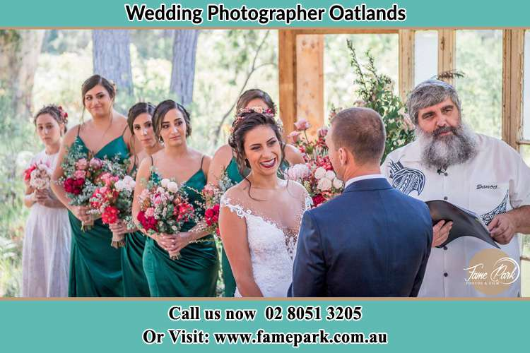 Photo of the Bride and the Groom at the matrimony Oatlands NSW 2117