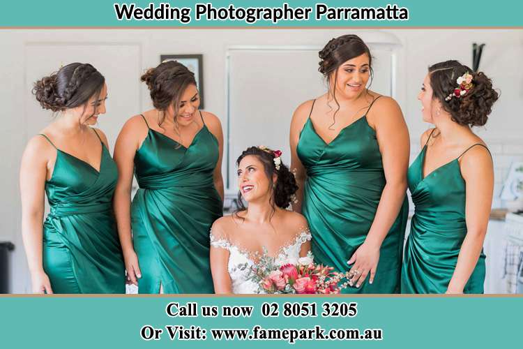 Photo of the Bride and the bridesmaids Parramatta NSW 2150