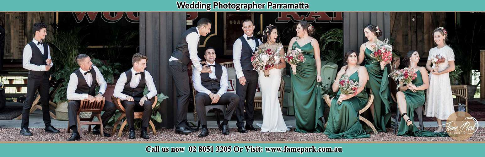 Photo of the Groom and the Bride with the entourage Parramatta NSW 2150