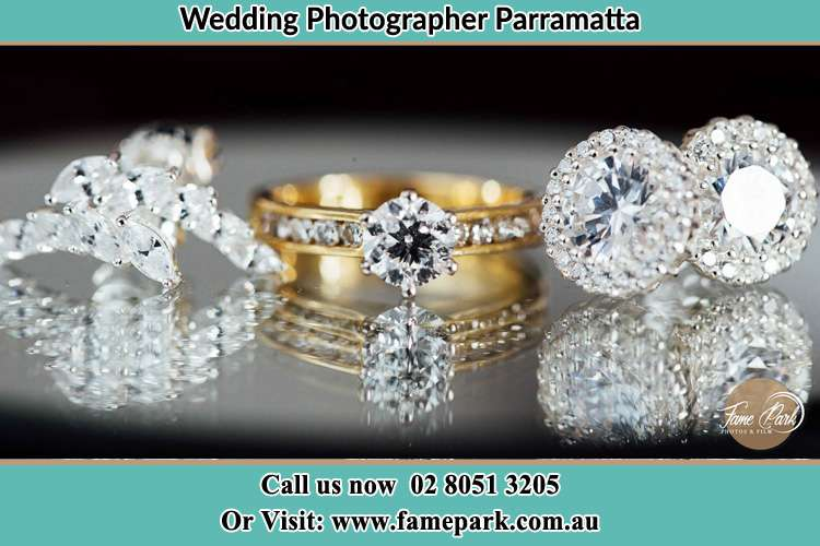 Photo of the Bride's cliff, ring and earrings Parramatta NSW 2150