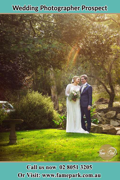 Photo of the Bride and the Groom at the yard Prospect NSW 2148