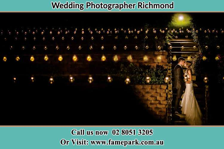 Photo of the Groom and the Bride kissing Richmond NSW 2753