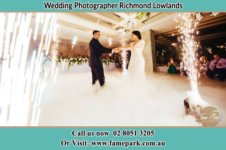 Photo of the Groom and the Bride dancing Richmond Lowlands NSW 2753