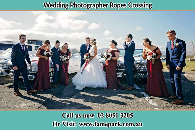 Photo of the Groom and the Bride with the entourage Ropes Crossing NSW 2760