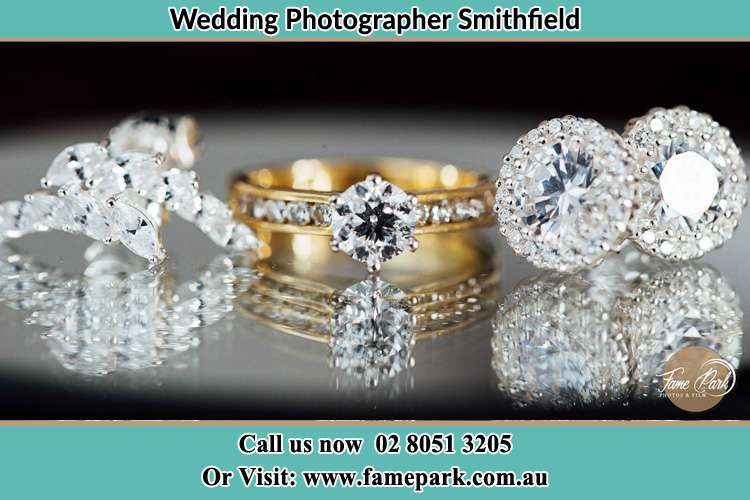 Photo of the Bride's cliff, ring and earrings Smithfield NSW 2164