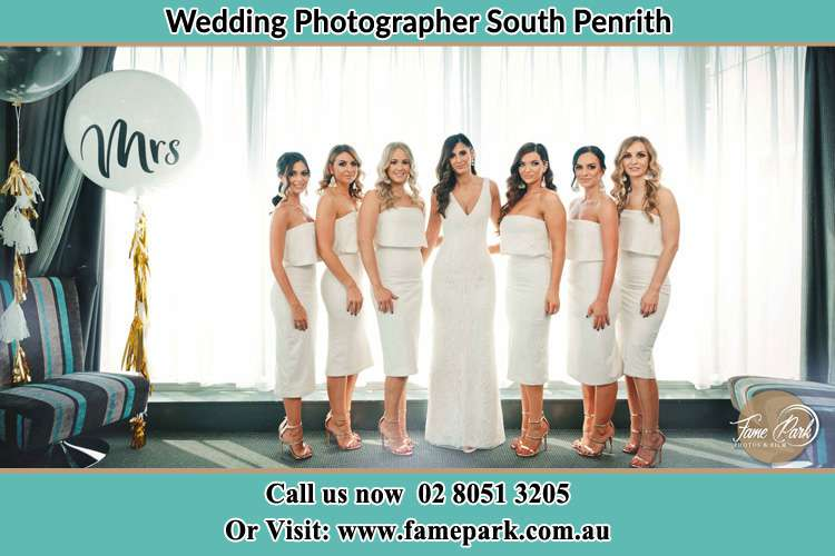 Photo of the Bride and the bridesmaids South Penrith NSW 2750