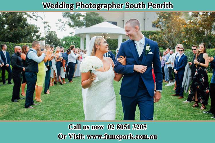 Photo of the Bride and the Groom looking each other South Penrith NSW 2750