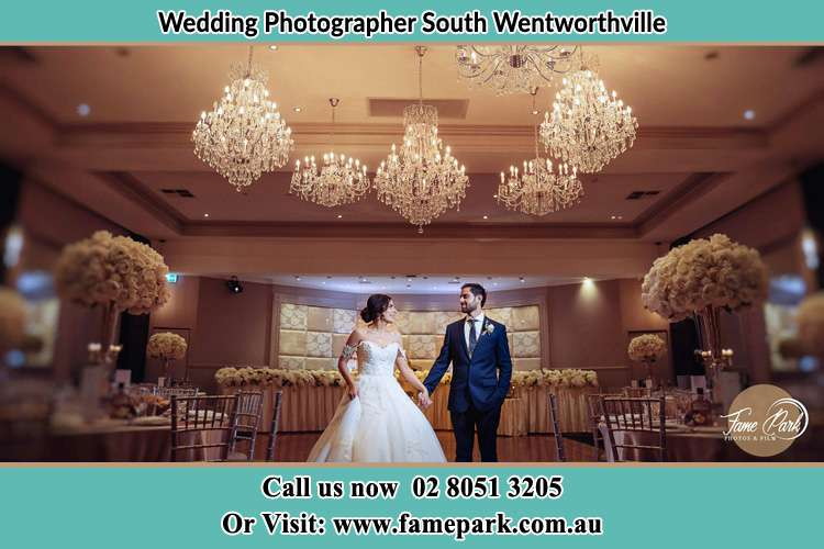 Photo of the Bride and the Groom holding hands on the dance floor South Wentworthville NSW 2145