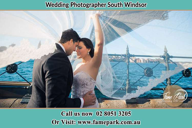 Photo of the Groom and the Bride kissing South Windsor NSW 2756