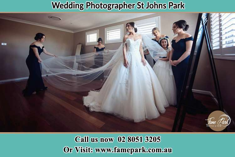 Photo of the Bride and the secondary sponsor preparing St Johns Park NSW 2176