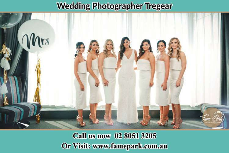 Photo of the Bride and the bridesmaids Tregear NSW 2770