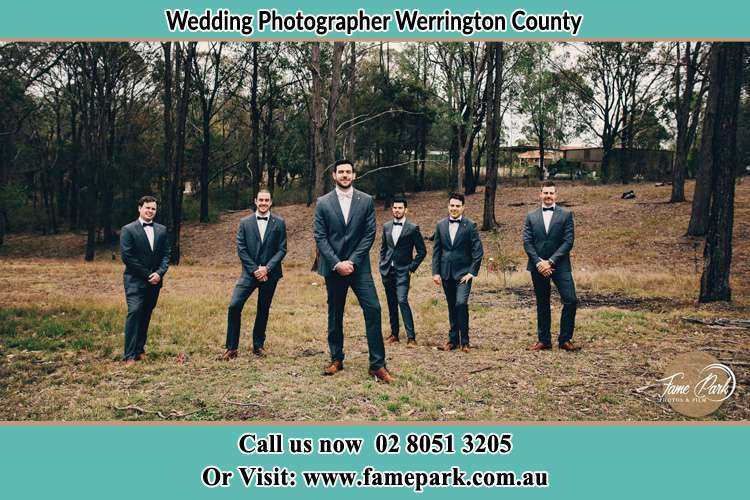 Photo of the Groom and the groomsmen Werrington County NSW 2747