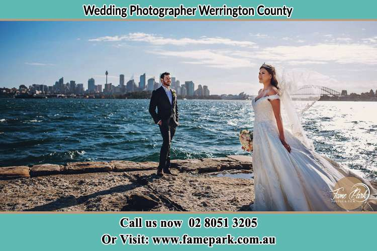 Photo of the Groom and the Bride at the sea front Werrington County NSW 2747