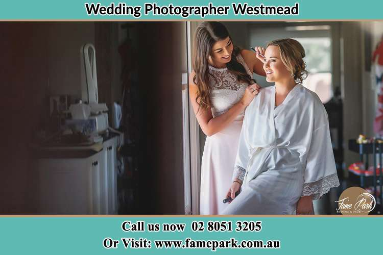 Photo of the Bride having make up Westmead NSW 2145