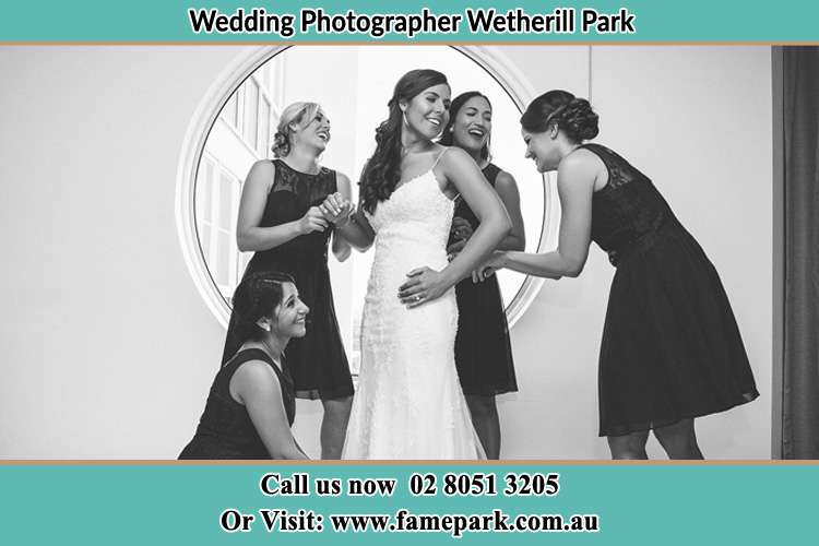 Photo of the Bride and the bridesmaids near the window Wetherill Park NSW 2146