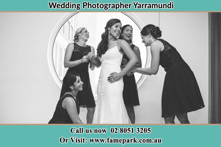 Photo of the Bride and the bridesmaids near the window Yarramundi NSW 2753